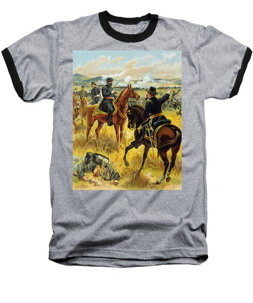 Major General George Meade At The Battle Of Gettysburg Baseball T-Shirt by Henry Alexander Ogden