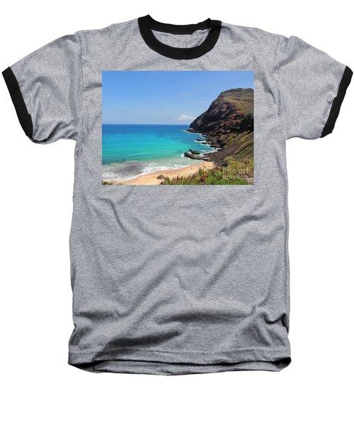Baseball T-Shirt featuring the photograph Makapu'u Beach  by Kristine Merc