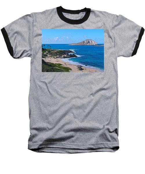Makapuu Beach With Rabbit Island Baseball T-Shirt