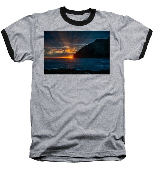 Makapuu Sunrise Baseball T-Shirt
