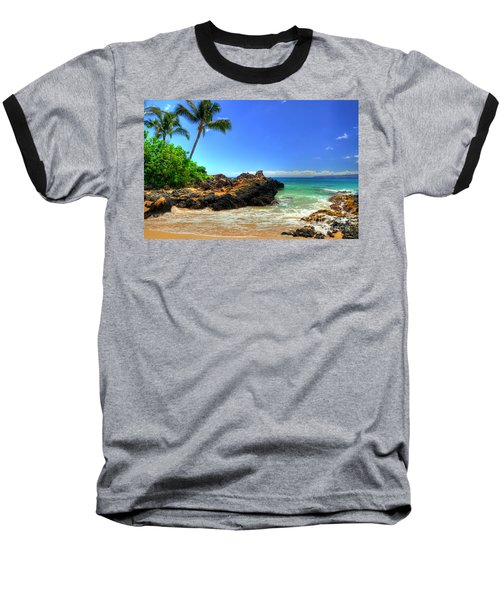 Makena Secret Cove Paako Beach Baseball T-Shirt