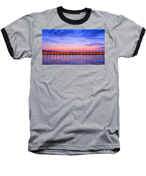 Malaga Pink And Blue Sunrise  Baseball T-Shirt by Debra Martz