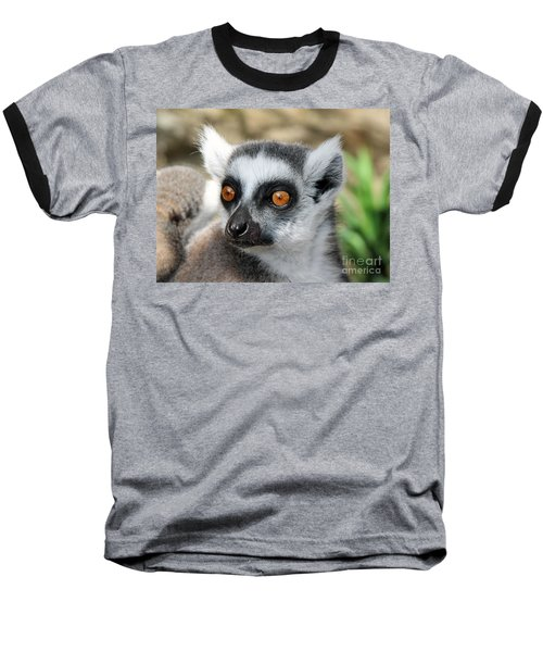 Baseball T-Shirt featuring the photograph Malagasy Lemur by Sergey Lukashin