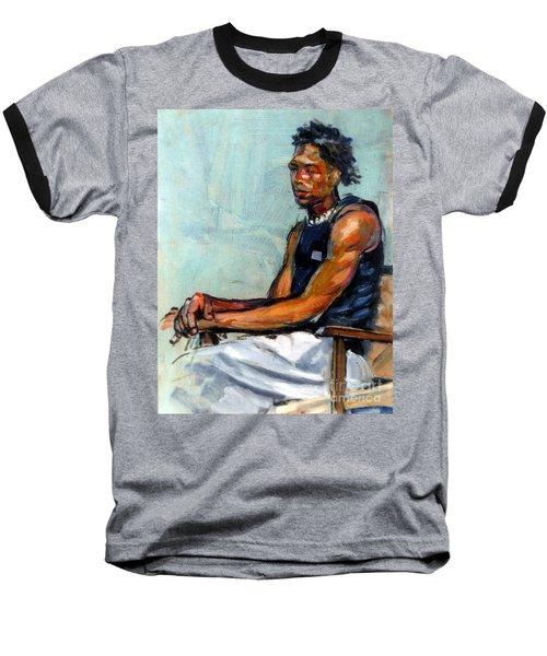 Male Figure Sitting Baseball T-Shirt
