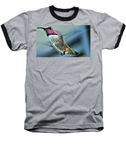 Baseball T-Shirt featuring the photograph Male Hummingbird Free As A Bird by Jay Milo