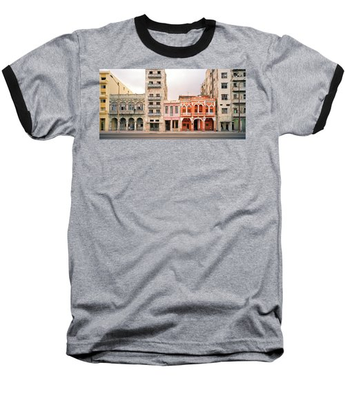 Malecon In Havana Baseball T-Shirt by Shaun Higson