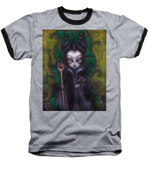 Maleficent  Baseball T-Shirt by Abril Andrade Griffith