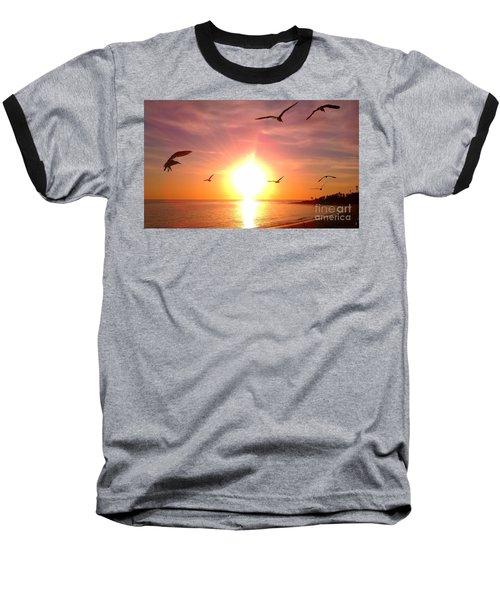 Malibu Paradise Baseball T-Shirt by Chris Tarpening