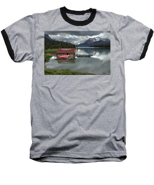 Maligne Lake Jasper Park Baseball T-Shirt