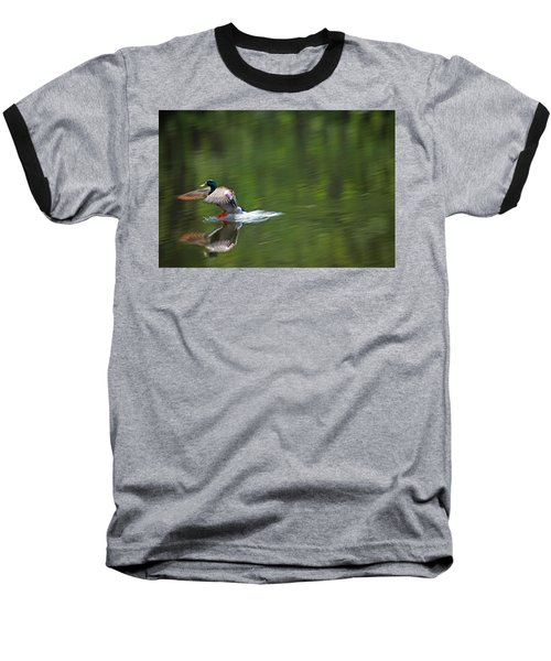 Mallard Splash Down Baseball T-Shirt
