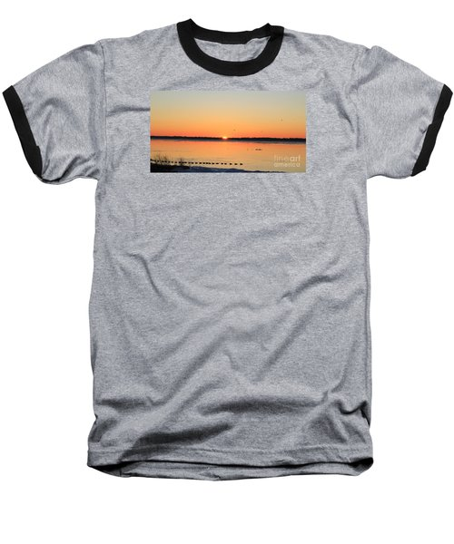 Baseball T-Shirt featuring the photograph Mallards At Sunrise by David Jackson