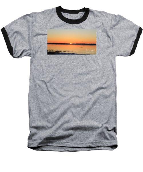 Mallards At Sunrise Baseball T-Shirt