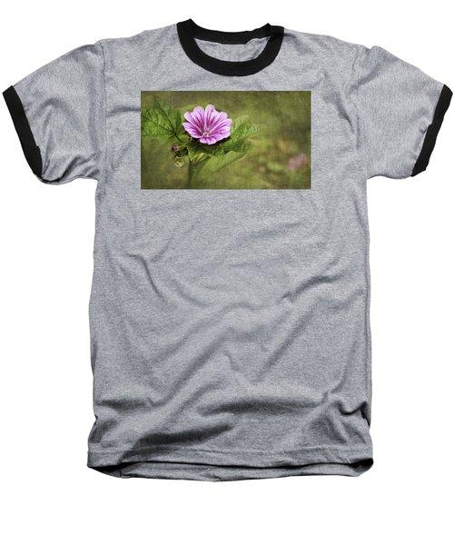 Mallow Hollyhock Baseball T-Shirt