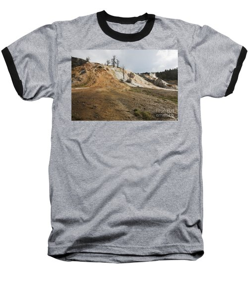 Baseball T-Shirt featuring the photograph Mammoth Hot Springs by Belinda Greb