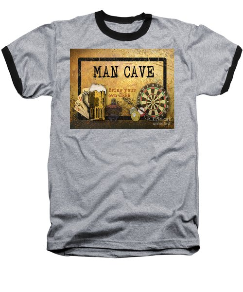 Man Cave-bring Your Own Beer Baseball T-Shirt