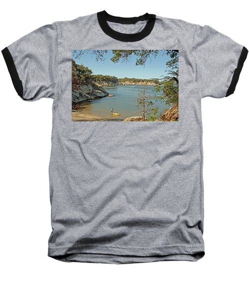 Man Going Kayaking Baseball T-Shirt