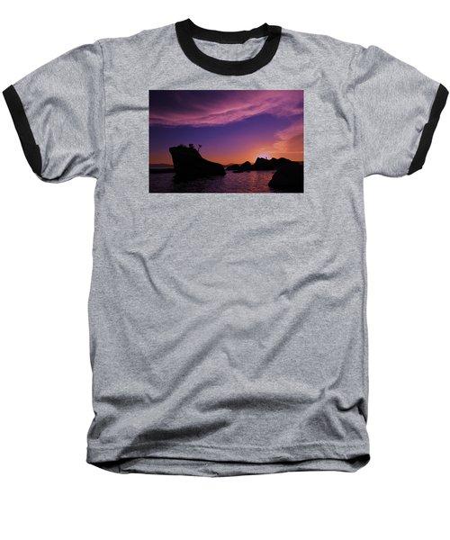 Baseball T-Shirt featuring the photograph Man In Sun At Bonsai Rock by Sean Sarsfield