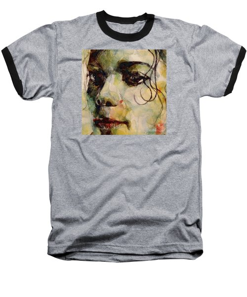 Man In The Mirror Baseball T-Shirt by Paul Lovering
