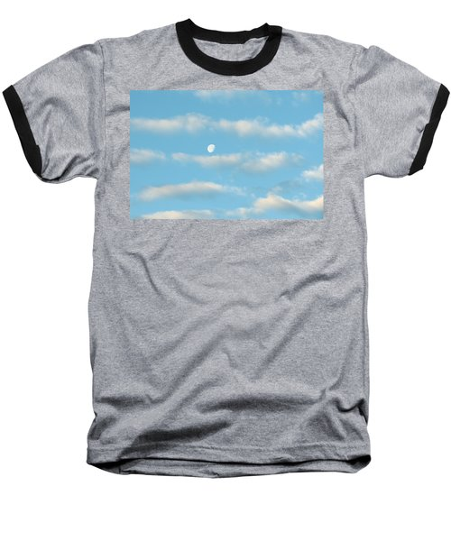 Baseball T-Shirt featuring the photograph Man In The Moon In The Clouds by Fortunate Findings Shirley Dickerson
