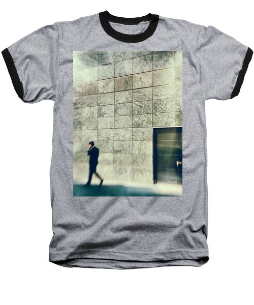 Baseball T-Shirt featuring the photograph Man With Cell Phone by Silvia Ganora