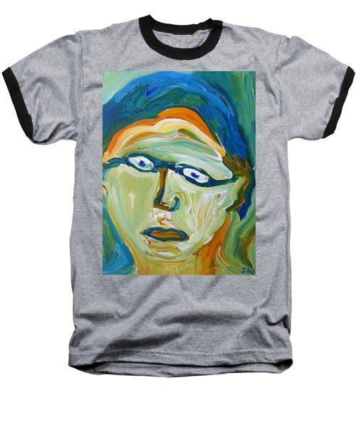 Man With Glasses Baseball T-Shirt