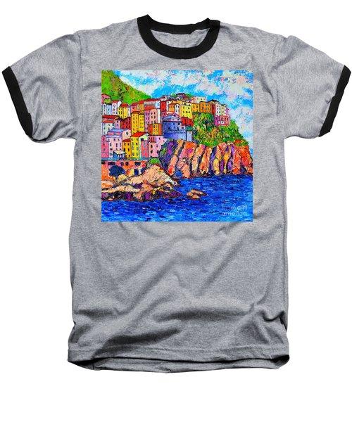 Manarola Cinque Terre Italy Detail Baseball T-Shirt