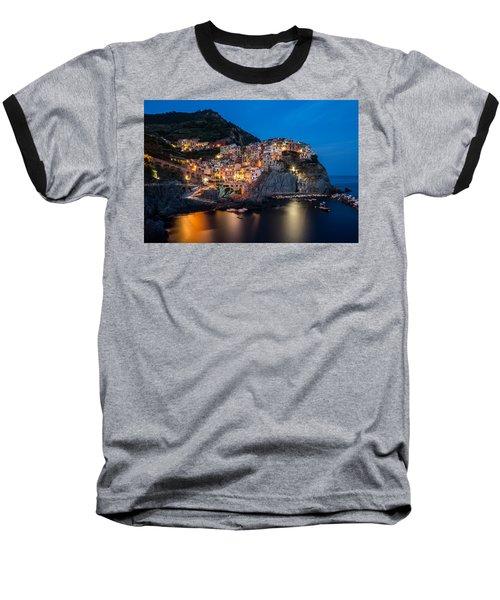 Manarola Baseball T-Shirt by Mihai Andritoiu