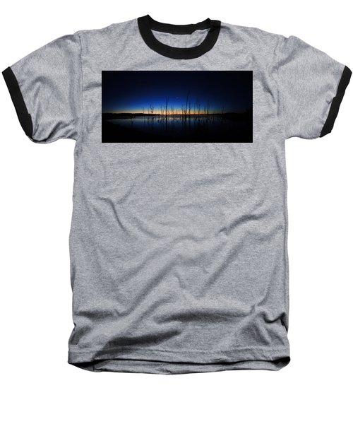 Manasquan Reservoir At Dawn Baseball T-Shirt