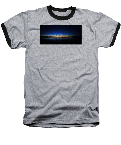 Manasquan Reservoir At Dawn Baseball T-Shirt