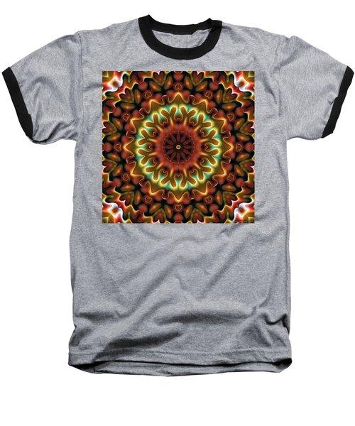 Baseball T-Shirt featuring the digital art Mandala 71 by Terry Reynoldson