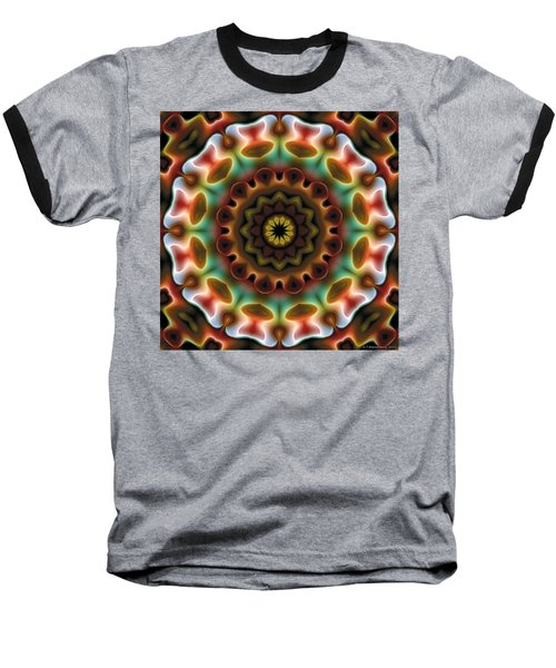 Baseball T-Shirt featuring the digital art Mandala 74 by Terry Reynoldson