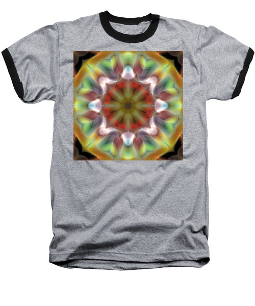 Baseball T-Shirt featuring the digital art Mandala 97 by Terry Reynoldson