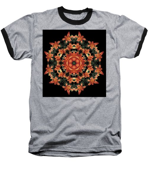 Baseball T-Shirt featuring the photograph Mandala Daylily by Nancy Griswold