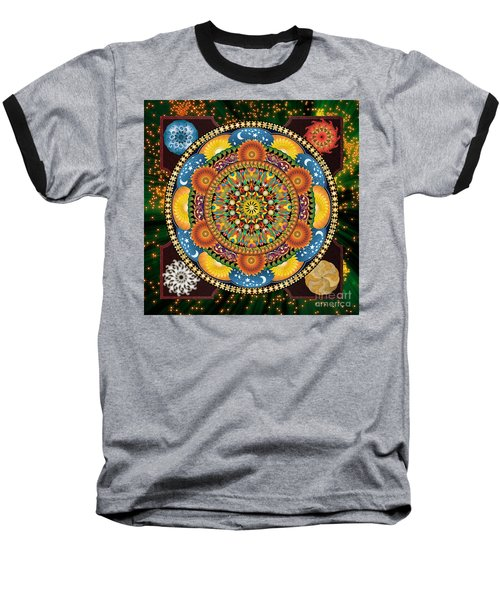 Mandala Elements Baseball T-Shirt