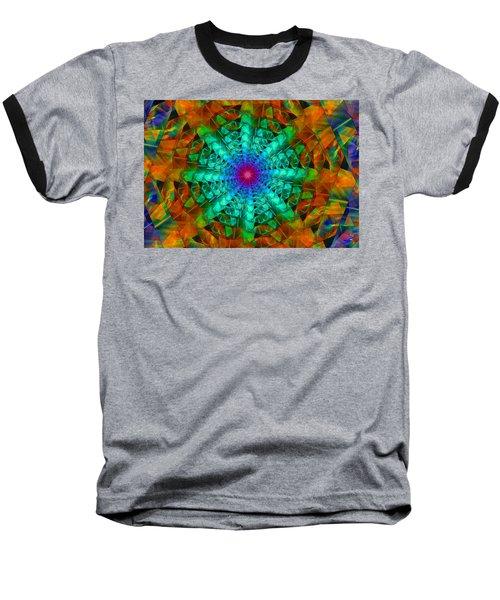 Baseball T-Shirt featuring the digital art Mandala by Ester  Rogers