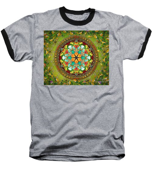 Mandala Evergreen Sp Baseball T-Shirt