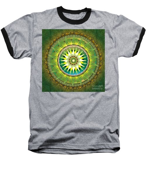 Mandala Green Baseball T-Shirt
