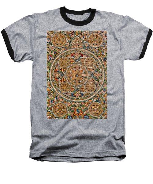 Mandala Of Heruka In Yab Yum And Buddhas Baseball T-Shirt by Lanjee Chee