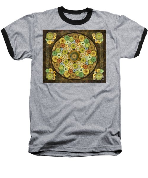 Mandala Stone Flowers Sp Baseball T-Shirt