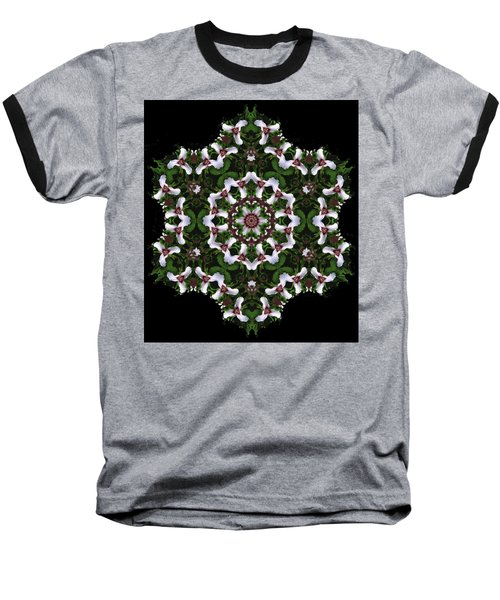 Mandala Trillium Holiday Baseball T-Shirt