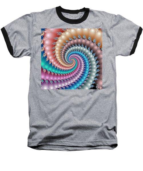 Mandelbrot Fractal Spyral Baseball T-Shirt
