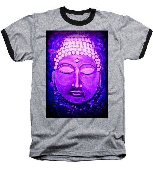 Baseball T-Shirt featuring the painting Mandi's Buddha by Michelle Dallocchio
