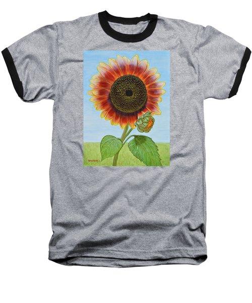 Mandy's Magnificent Sunflower Baseball T-Shirt