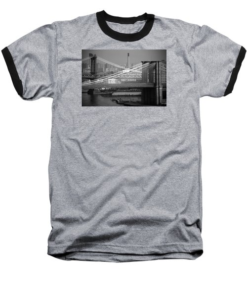 Manhattan And Brooklyn Bridge's Baseball T-Shirt