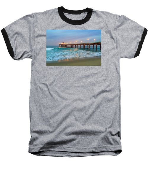Manhattan Beach Reflections Baseball T-Shirt