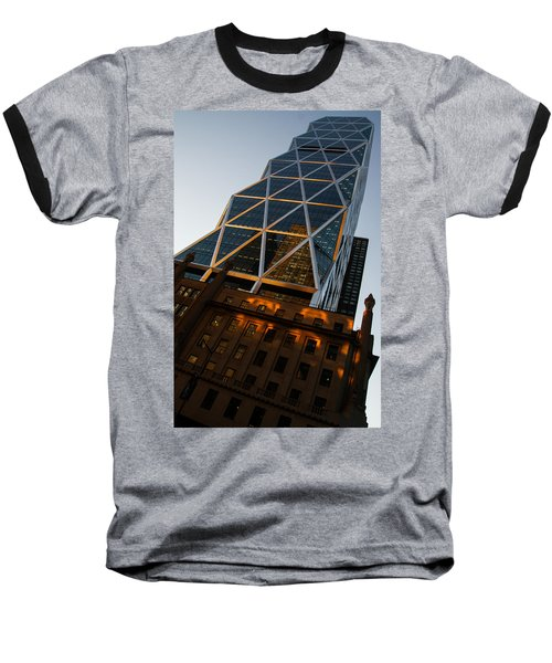 Manhattan Blues And Oranges Baseball T-Shirt