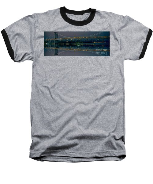 Manhattan Bridge New York Baseball T-Shirt
