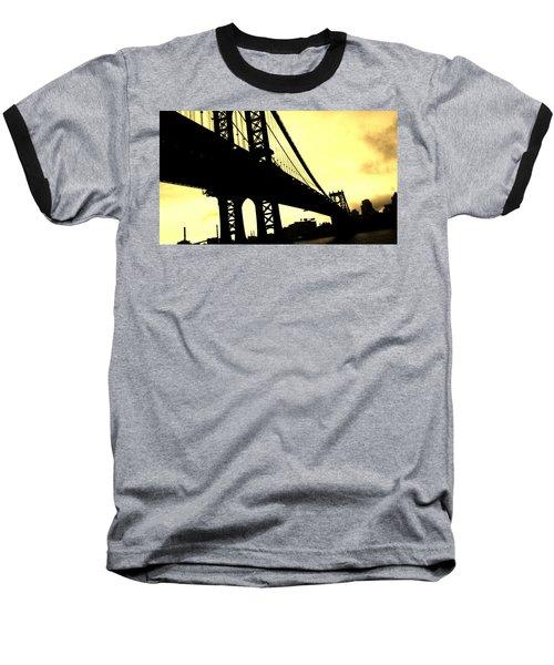 Manhattan Bridge Baseball T-Shirt by Paulo Guimaraes