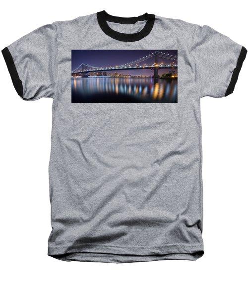 Manhattan Reflections  Baseball T-Shirt