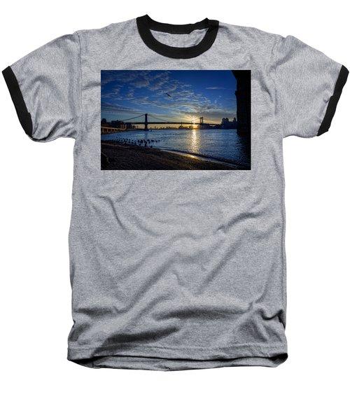 Manhattan Sunset Baseball T-Shirt